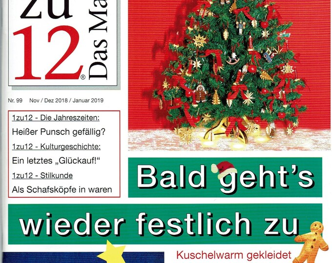 99-1zu12 The Magazine, the Magazine for Miniatures and Dollhouses, Nov. /Dec 2018/January 2019, Bald is going back to strength