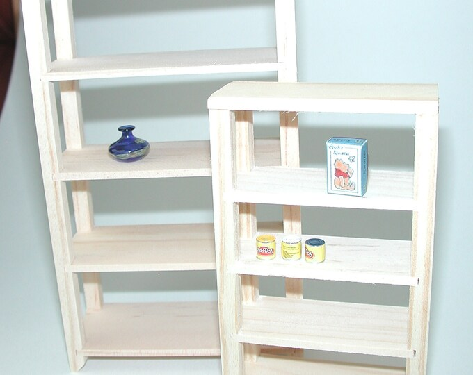 Shelf for the basement, storage room, for the doll's house, the doll's house, Dollhouse Miniatures, nativity scenes, miniatures, model making # 840-915/917