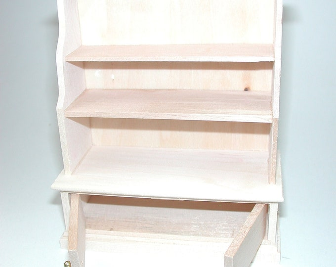 Kitchen shelving cabinet, for the Dollhouse, the doll house, Dollhouse miniatures, cribs, miniatures, modelling # 840-955