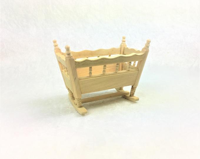 Cradle for the dollhouse, the dollhouse, dollhouse miniatures, cribs, miniatures, model making
