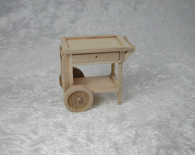 Occasional table on wheels, for the Dollhouse, the Dollhouse, Dollhouse miniatures, cribs, miniatures, model building # 22086