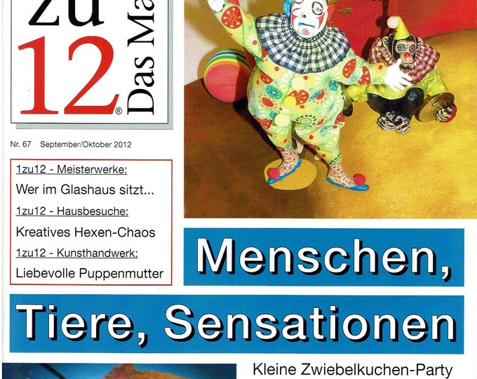67-1zu12 The magazine, the magazine for miniatures and doll's houses, No. 67 September/October 2012, people, animals, sensations