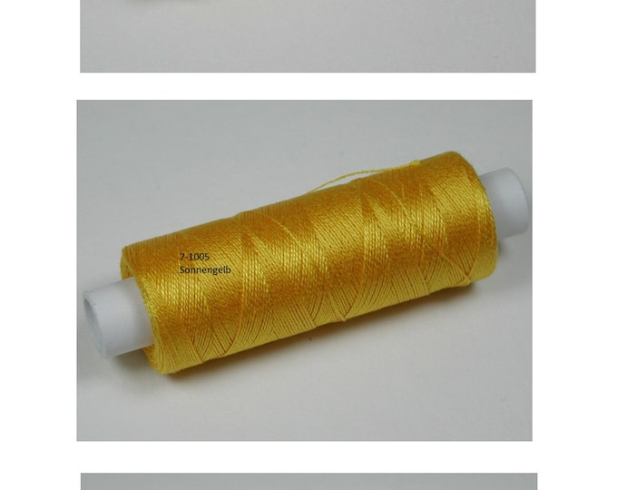 Colours 1002 vanilla yellow, 1005 sun yellow, 1006 yellow, cotton, knitted and crochet yarn for miniature handmade