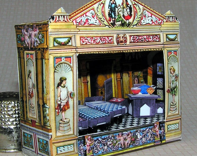 Theatre, Bastelkit of paper in miniature for the Dollhouse, the doll house, Dollhouse Miniatures # 40080