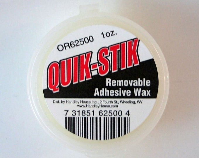 Tacky Wax Quik Stik, for the doll's room, the doll house, Dollhouse Miniatures
