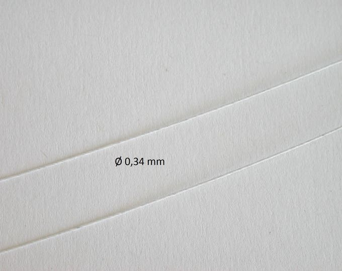 Paper wrapped wire, white, for tinkering for the doll parlor, Dollhouse miniatures, model making