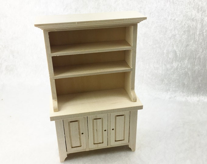 Kitchen cabinet with three doors, for the dollhouse, the dollhouse, dollhouse miniatures, cribs, miniatures, model making