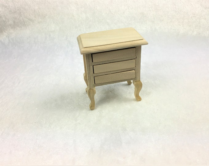 Small dresser, bedside table, for the dollhouse, the dollhouse, dollhouse miniatures, cribs, miniatures, model making