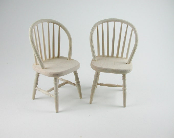 Chair 2 pieces, for the doll's house, the Dollhouse, Dollhouse miniatures, cribs, miniatures, model making # v 23171