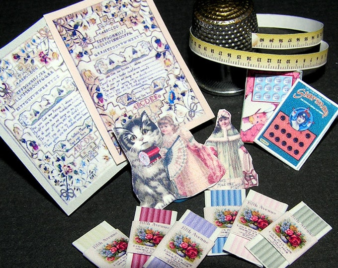 Paperminis, Bastelkit of paper in miniature for the doll's Parlour, the doll's House, Dollhouse Miniatures # 40059