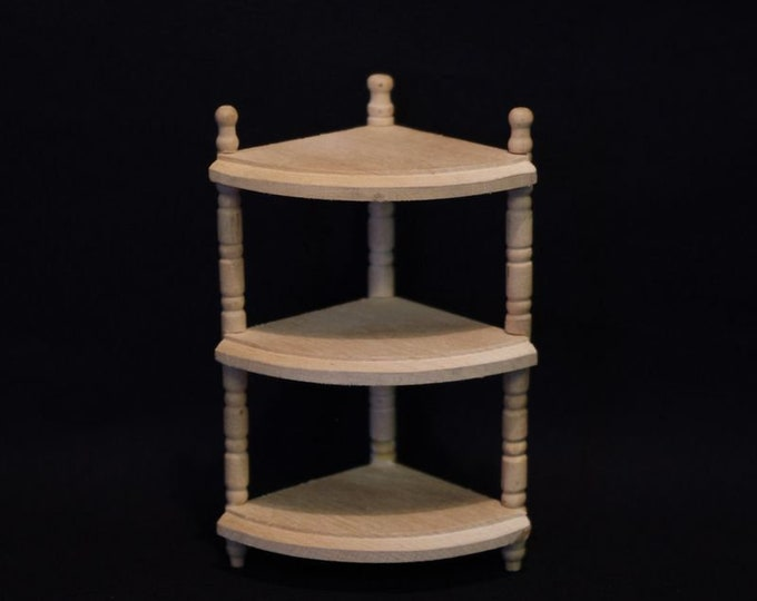 Corner shelf for the dollhouse, the dollhouse, dollhouse miniatures, cribs, miniatures, model making