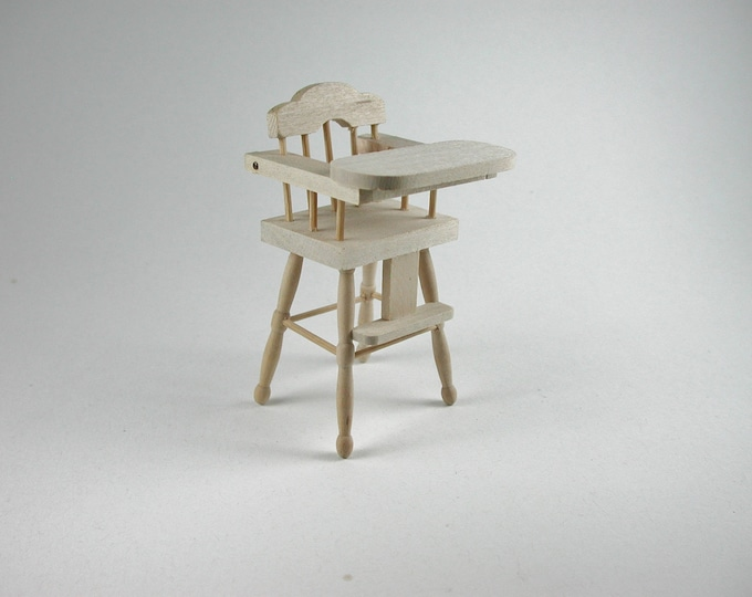 Children's highchair, for the doll's Parlour, the doll's House, Dollhouse miniatures, cribs, miniatures, Model Building # v 22033
