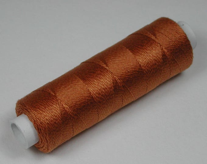 6044 color copper, silk, cotton of Venne, knitting and crochet thread for miniature manual work