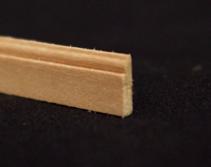 Bar, 0.2 x 0.9 x 30 cm, wooden strip, wood nature untreated, for the doll house, for model making, for the Krippenbau # 23559