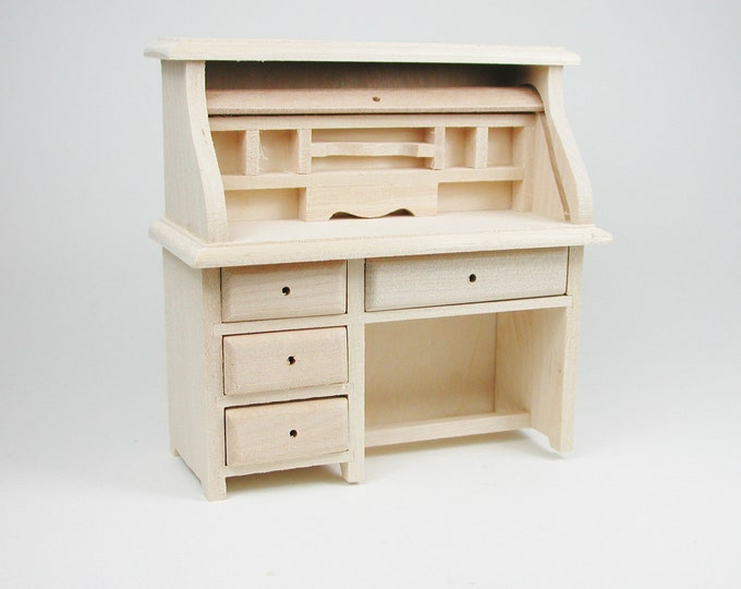 Desk, for the Dollhouse, the doll house, Dollhouse Miniatures, Miniatures, # 22074