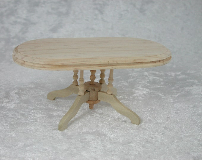Oval dining table, for the Dollhouse, the doll house, Dollhouse miniatures, cribs, miniatures, modelling # 22027