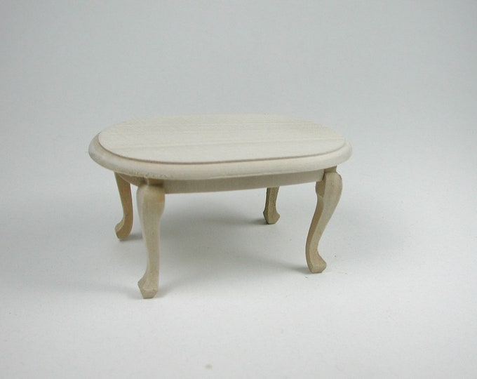 Coffee table oval, for the Dollhouse, the doll house, Dollhouse miniatures, cribs, miniatures, modelling # 840-426