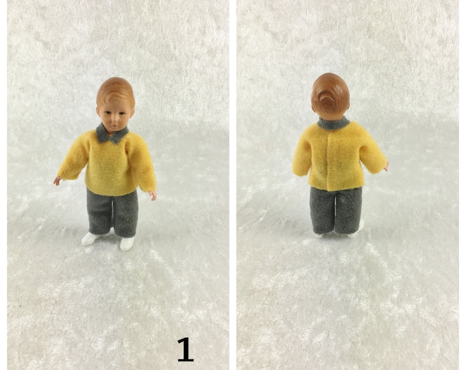 Caco dollhouse bending doll, child 7.5 cm for the dollhouse, the dollhouse, cribs, miniatures, model making, collectors