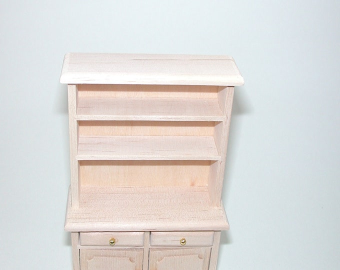 Kitchen shelving cabinet, for the Dollhouse, the doll house, Dollhouse miniatures, cribs, miniatures, modelling # 840-715