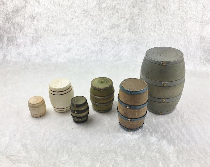 Wooden barrel, wine barrel, whiskey barrel for the dollhouse, the dollhouse, dollhouse miniatures, cribs, miniatures, model making