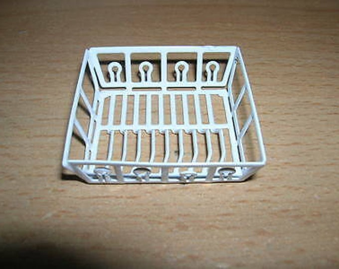 Dish rack with and without dishes for the dollhouse, dollhouse, dollhouse miniatures, cribs, miniatures, model making