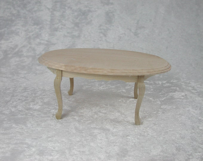 Dining room table oval, for the Dollhouse, the doll house, Dollhouse miniatures, cribs, miniatures, modelling # 23365