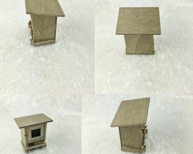 Hare stable, for the dollhouse, the dollhouse, Dollhouse Miniatures, cribs, miniatures, model making