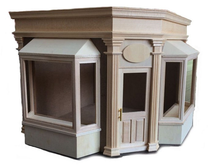 Corner shop, corner showcase, Kit , for the dollhouse, the dollhouse, Dollhouse Miniatures, cribs, miniatures, model making