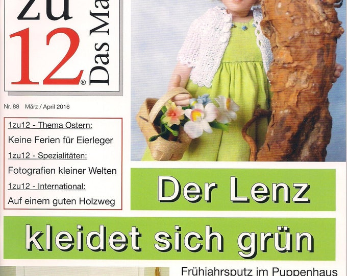 88-1zu12 The magazine, the Journal for Miniatures and Doll houses, No. 88 March/April 2016, the Lenz dresses Green
