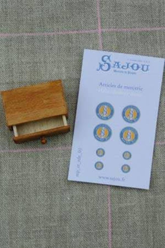 "Sajou miniature goods, 1 drawer ""articles de Mercie, for the doll parlor, Dollhouse Miniatures, # 39402"