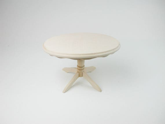 Oval table, for the doll's Parlour, the doll's House, Dollhouse miniatures, cribs, miniatures, model building # 840-433
