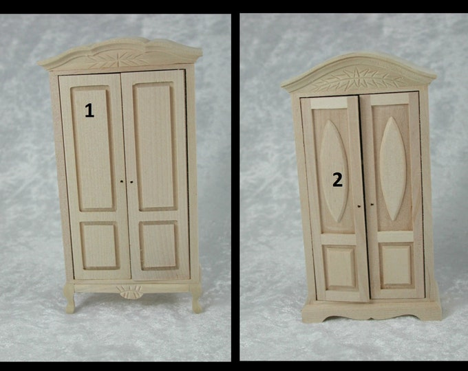 Wardrobe, bedroom closet, for the Dollhouse, the doll house, Dollhouse Miniatures,, Miniatures, modelling # 840-39, 23700
