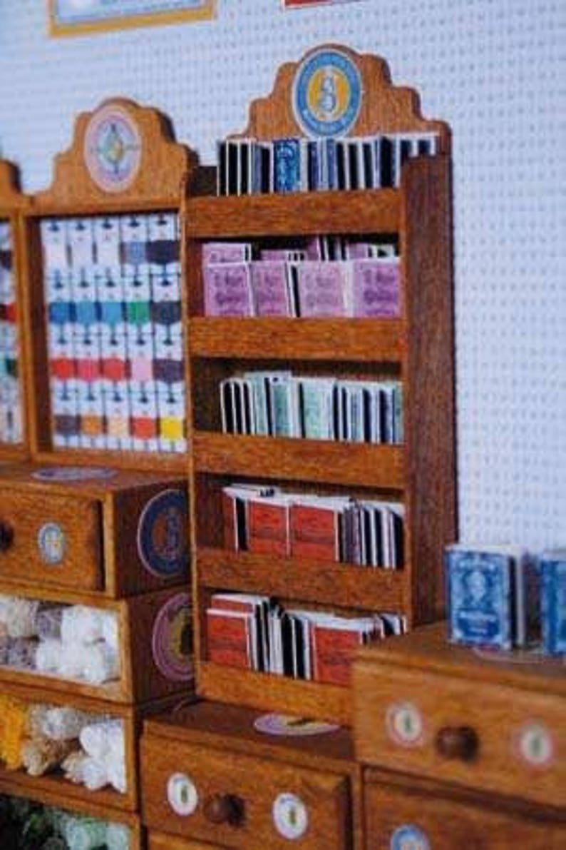 1 Sajou miniature haberdashery Sajou albums Red Series no Dollhouse Miniatures craft kit made of paper in miniature for the dollhouse