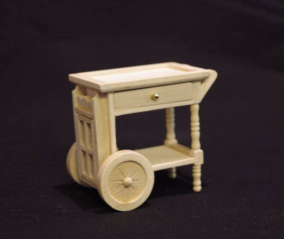 Tea trolley, for the doll house, the Dollhouse, Dollhouse miniatures, cribs, miniatures, modelling # 22086