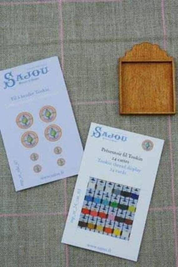 Sajou-miniature-goods display 24 maps Tonkin, Bastelkit in miniature for the doll parlor, Dollhouse Miniatures, # 39304