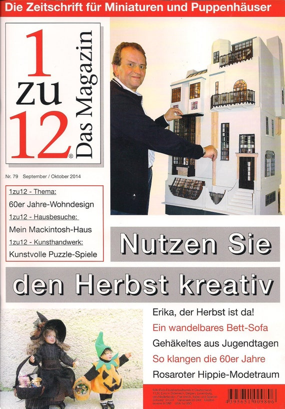 79-1zu12 the magazine, the Journal for Miniatures and Doll houses, No. 79 September/October 2014, take advantage of the autumn creative