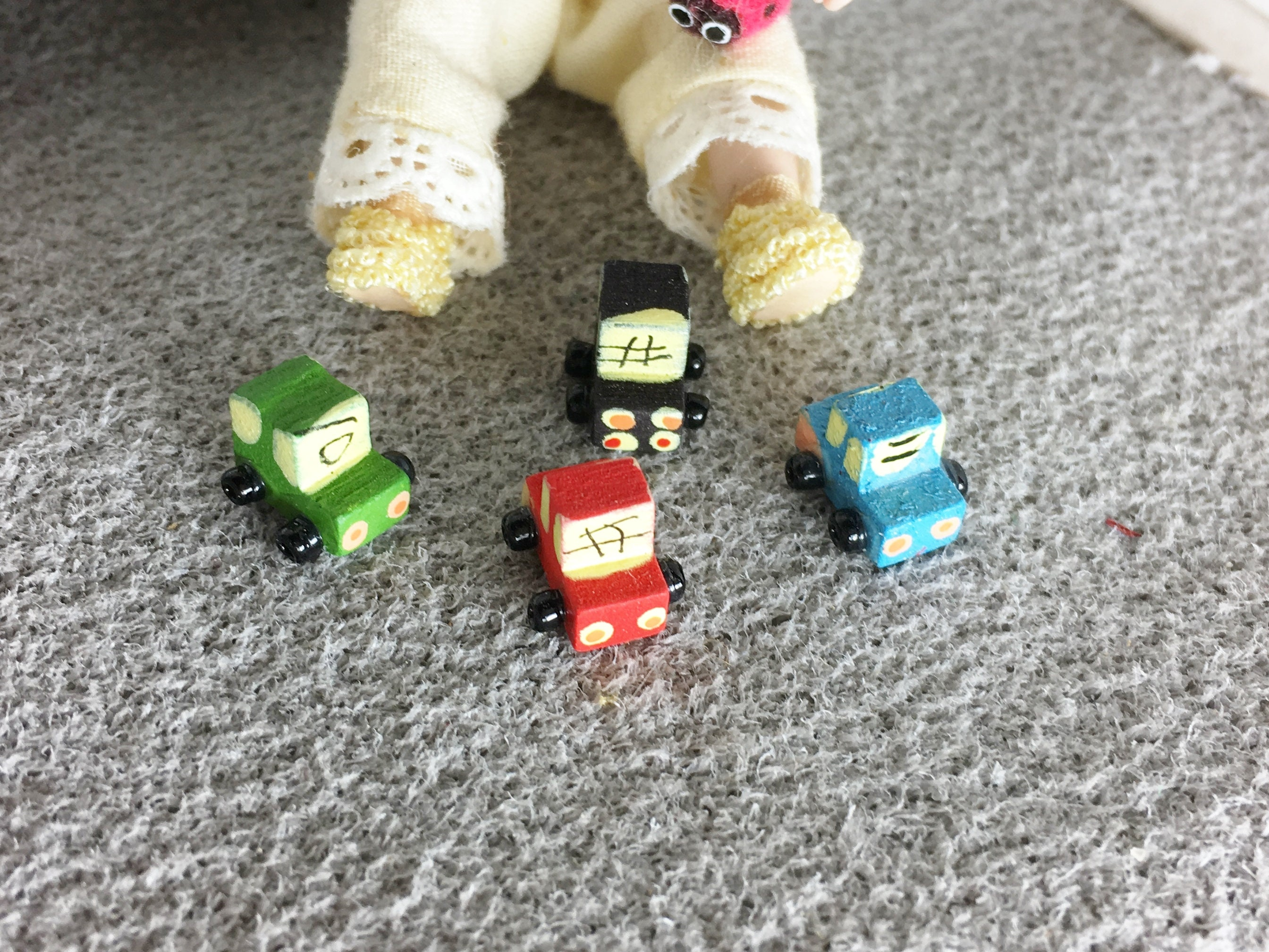 Small Toy Car Made Of Wood For The Dollhouse The Dollhouse