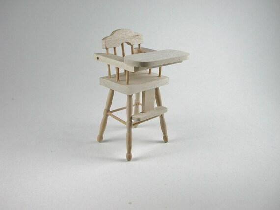 Children's highchair, for the doll's Parlour, the doll's House, Dollhouse miniatures, cribs, miniatures, Model Building # v 22033