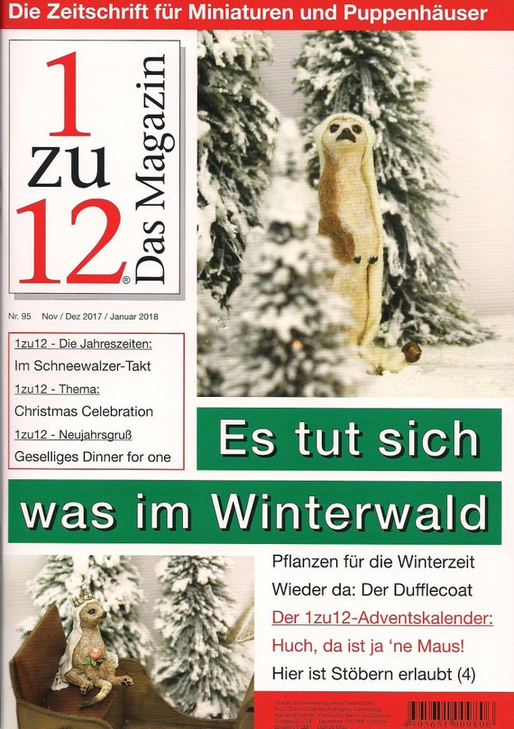 95-1zu12 The magazine, the Journal for Miniatures and Doll houses, No. 95 Nov./2017/, 2018, it does what in the winter forest