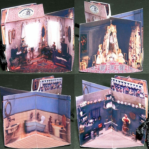 Folder Doll House, Paperminis, Bastelkit of paper in miniature for the Dollhouse, the doll house, Dollhouse Miniatures # 40022