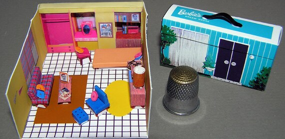 Doll's house in the suitcase, Paperminis, Bastelkit of paper in miniature for the Dollhouse, the doll house, Dollhouse Miniatures # 40046