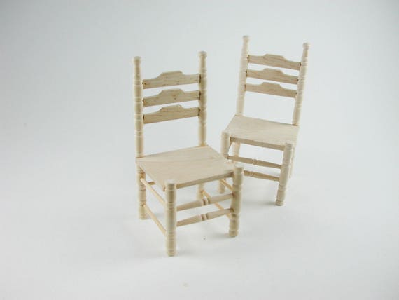 Chair 2 pieces, for the doll parlor, the doll house, Dollhouse miniatures, cribs, miniatures, Model Building # v 22004