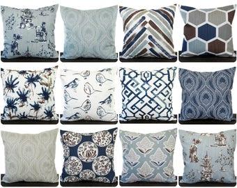 Blue brown pillow  fef02e75d3