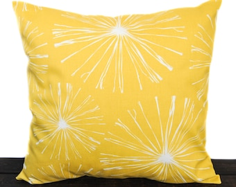 Pillow, Throw Pillow, Pillow Cover, Cushion, Decorative Pillow, yellow and white, Sparks Mimosa Yellow