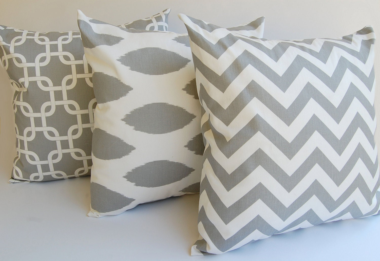 Gray Pillow Throw Pillows Decorative Pillow Covers Cushion Etsy