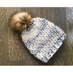 """Soft, Warm Beanie with Faux Fur Pom Pom """"I Can't Even"""" - Available in all colors: Gray, Beige, Purple, Pink, Yellow, Stripes, and more!"""