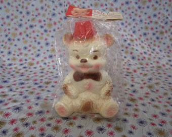 Edward Mobley, Arrow Rubber Toy and Plastics Company, The Biggies, Bear, Mint In Package 1961