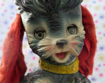 Edward Mobley Poodle, 1960 Bon Bon, arrow rubber and plastics corp. squeak rubber toy