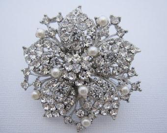 Crystal wedding brooch,rhinestone bridal brooch,wedding accessories,wedding comb,bridal hair comb,bridesmaid gift,wedding hair comb,bridal