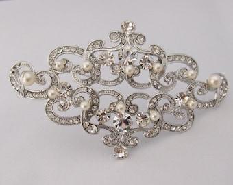 Wedding Jewelry,bridal brooch,pearl wedding brooch,bridal accessories,bridesmaid gift,wedding comb,bridal hair comb,bridal hair accessories